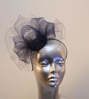 Small navy blue ladies' fascinator 16358/SD615